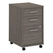Office by kathy ireland® Method 3 Drawer Mobile File Cabinet, Cocoa, Installed (KI70103SUFA)
