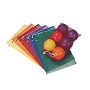 S&S Worldwide, Spectrum Mesh Drawstring Bags Medium Set 6, (W12422)