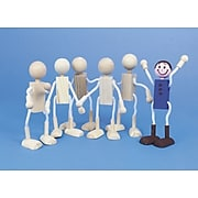 S&S Worldwide Wood Dolls Unfinshd, 6/Pack (CF-837)