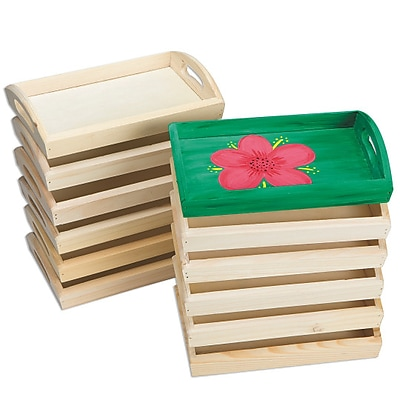 S&S Worldwide, Wood Trays Pk12, (WD7625)