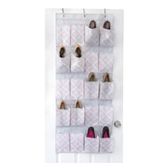 The Macbeth Collection Closet Candie Shoe Organizer, 20-Pocket, Ikat (M-77806-CC)