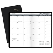 """AT-A-GLANCE® Two-Year Monthly Planner, 24 Months, January Start, 3 1/2"""" x 6 1/8"""", Black"""
