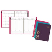 """AT-A-GLANCE® Contemporary Weekly/Monthly Appointment Book/Planner, 12 Months, January Start, 8 1/4"""" x 10 7/8"""", Assorted Colors"""
