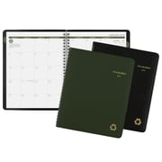"AT-A-GLANCE® Recycled Monthly Planner, 12 Months, January Start, 6 7/8"" x 8 3/4"", Wirebound, Assorted Colors"