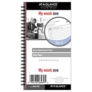 """AT-A-GLANCE® Day Runner® Weekly Planner Refill, 12 Months, January Start, Wirebound, 3-1/4"""" x 6 3/8"""" (064-287-19)"""
