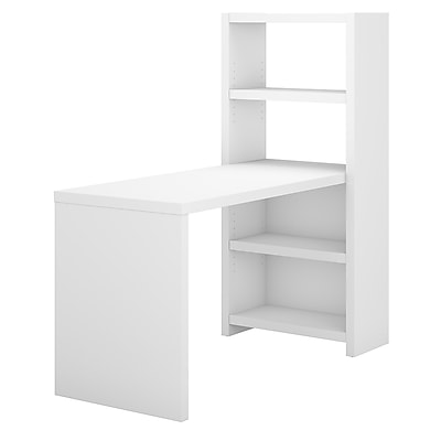Office by kathy ireland Echo 56W Craft Table, Pure White/Pure White (ECH023PW) 24301777