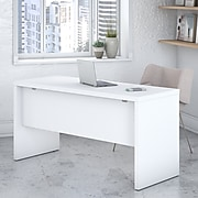 Office by kathy ireland® Echo 60W Credenza Desk, Pure White/Pure White (KI60106-03)