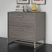 Office by kathy ireland® Method Lateral File Cabinet - Assembled, Cocoa (KI70104SU)