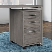 Office by kathy ireland® Method 3 Drawer Mobile File Cabinet - Assembled, Cocoa (KI70103SU)