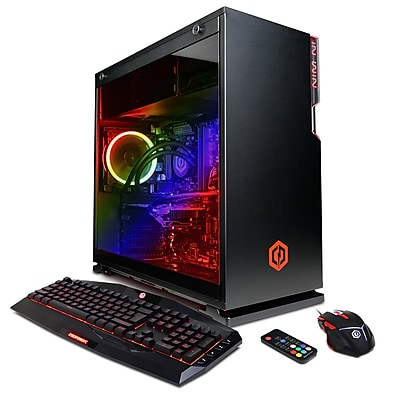CyberpowerPC Gamer Xtreme Liquid Cool GLC2440OPT Gaming Desktop (Intel i7+ 8700K, 2TB+16GB Intel Optane)