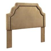 Crosley Loren Keystone Upholstered Full/Queen Headboard In Camel Microfiber (CF90009-501CM)