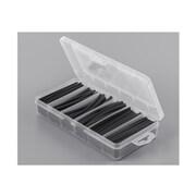 Heat Shrink Tubing Kit, Black - 177 Pieces