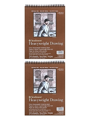 Strathmore Heavyweight Drawing Paper 8 in. x 10 in. pad of 24 sheets [Pack of 2](PK2-400-208-1)