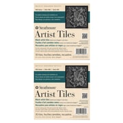 Strathmore Artist Tiles black drawing pad of 30 6 in. x 6 in. [Pack of 2](PK2-105-974-1)