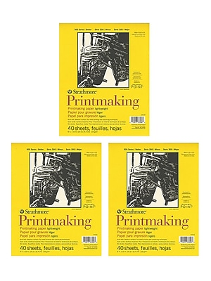 Strathmore Printmaking Paper Pads 8 in. x 10 in. 40 sheets [Pack of 3](PK3-333-8)
