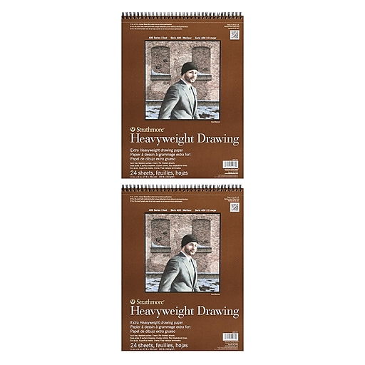 Strathmore Heavyweight Drawing Paper 11 in. x 14 in. pad of 24 sheets [Pack of 2](PK2-400-211-1)