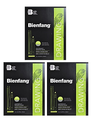 Bienfang 501 Giant Drawing Paper Pad 11 in. x 14 in. pad of 50 [Pack of 3](PK3-R230730)