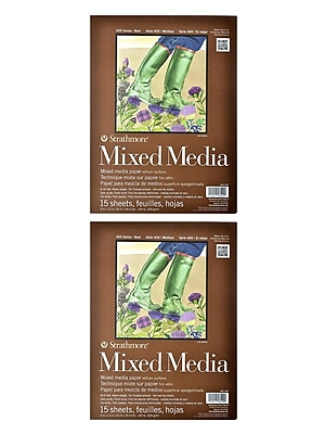 Strathmore 400 Series Mixed Media Pad 9 in. x 12 in. 15 sheets [Pack of 2](PK2-462-109)
