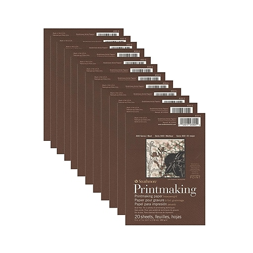 Strathmore 400 Series Heavyweight Printmaking Paper 5 in. x 7 in. pad of 20 sheets [Pack of 12](PK12-433-5)