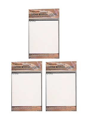 Ranger Tim Holtz Distress Watercolor Cardstock 4 1/4 in. x 5 1/2 in. 20 sheets [Pack of 3](PK3-TDA39549)