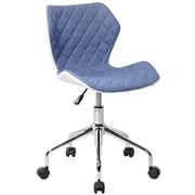 Techni Mobili Modern Height Adjustable Office Task Chair, Blue (RTA-3236-BL)