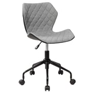 Techni Mobili Deluxe Modern Office Armless Task Chair, Grey (RTA-3237-GRY)