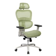Techni Mobili High Back Mesh Office Executive Chair with Neck Support, Green (RTA-5004-GRN)