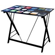 Techni Mobili Cell Phone Glass Kids Desk, Black (RTA-703K-BK)