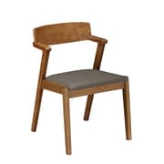 Techni Home Wooden Dining Chair Set of 2, Walnut (RTA-DCH41-WAL)