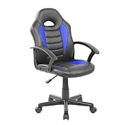 Techni Mobili Kid's Gaming and Student Racer Chair, Blue (RTA-KS40-BL)