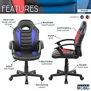Techni Mobili Kid's Gaming and Student Racer Chair, Blue (RTA-KS40-BL)