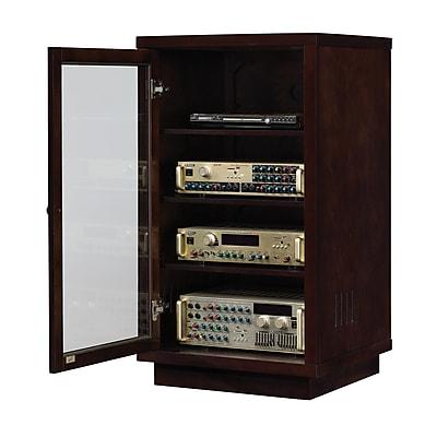 Bell'O Audio Video Component Cabinet, Dark Espresso (ATC402)