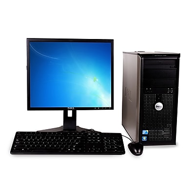 Refurbished Dell 380 Desktop Intel Core 2 Duo E7400 2.8GHz 4GB Ram 160GB Hard Drive DVD Windows 10 Pro With A 19