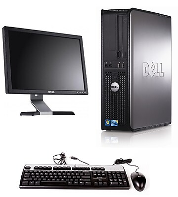 Refurbished Dell 380 Desktop Intel Core 2 Duo E7400 2.8GHz 4GB Ram 160GB Hard Drive DVD Windows 10 Pro With A 22