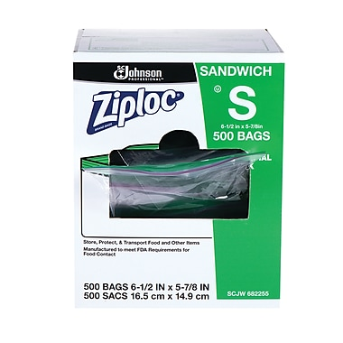 Ziploc® Sandwich Bags Commercial 500 CT