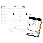 """AT-A-GLANCE® 5-1/2""""x 8-1/2"""" Harmony Daily/Monthly Planner Refill, 12 Months, January Start, Loose-Leaf(6099-4311-19)"""