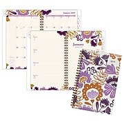 """Cambridge® Ingrid Weekly/Monthly Planner, 12 Months, January Start, 4 7/8"""" x 8"""", Multicolor"""