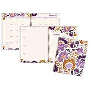 "Cambridge® Ingrid Weekly/Monthly Planner, 12 Months, January Start, 8 1/2"" x 11"", Multicolor"