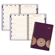 "AT-A-GLANCE® Sun Dance Weekly/Monthly Appointment Book/Planner, 13 Months, January Start, 4 7/8"" x 8"", Purple"