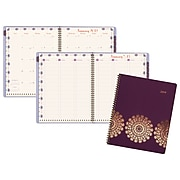 "Cambridge® Sun Dance Weekly/Monthly Appointment Book/Planner, 13 Months, January Start, 8 1/2"" x 11"", Purple"