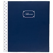 """Undated Mead Fashion Hardsided 5.5"""" x 6.25"""" Phone/Address Book, Assorted Colors (TL771-10)"""