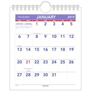 "AT-A-GLANCE® Mini Monthly Wall Calendar, 12 Months, January Start, 6 1/2"" x 7 1/2"" (PM5-28-19)"