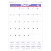 "AT-A-GLANCE® Monthly Wall Calendar, 12 Months, January Start, 12"" x 17"", Wirebound (PM2-28-19)"