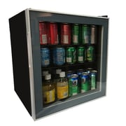 Avanti 1.6 Cubic Ft. Energy Star. Glass Door Refrigerator, Beverage Cooler, Black (ARBC17T2PG)