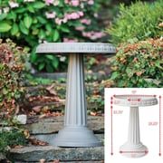 "Bloem Grecian Bird Bath with Pedestal, 24"" x 19"", Peppercorn (BB2-60)"