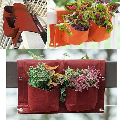 BloemBagz Deck Rail 4-Pocket Hanging Planter Bag , Union Red (OTR2-12)