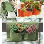 BloemBagz Deck Rail 4-Pocket Hanging Planter Bag , Living Green (OTR2-42)