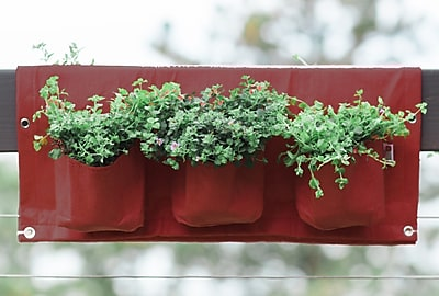 BloemBagz Deck Rail 6-Pocket Hanging Planter Bag, Union Red (OTR3-12)