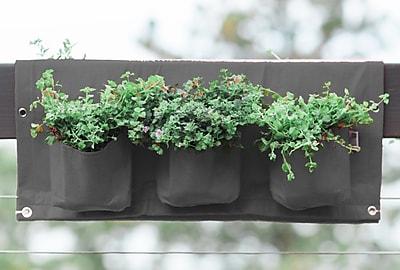 BloemBagz Deck Rail 6-Pocket Hanging Planter Bag, Peppercorn (OTR3-60)