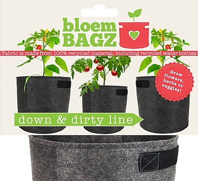 BloemBagz Down & Dirty Fabric Grow Bags Pot Planter 20 Gallon (DDH20)